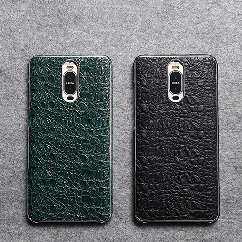 2018 Magnetic Design First layer cowhide Crocodile Black Cover For Huawei Mate9 Pro Cover Mate 9 Pro Leather Case With Magnet