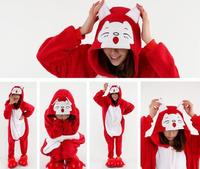 Winter Sleepwear Party Clothes Unisex Cosplay Costumes Animal Pajamas Red Fox With Long Sleeve