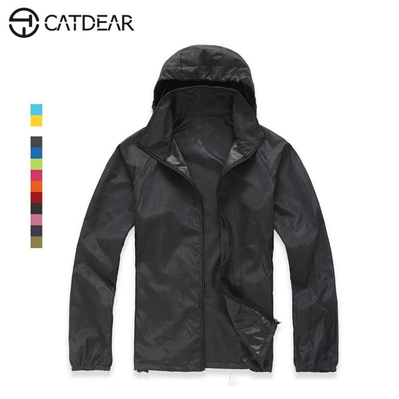 Весна-лето Открытый Отдых и Туризм куртка ветровка ветрозащитный восхождение рубашка Quick Dry дождь пальто для женщин и мужчин sportswea