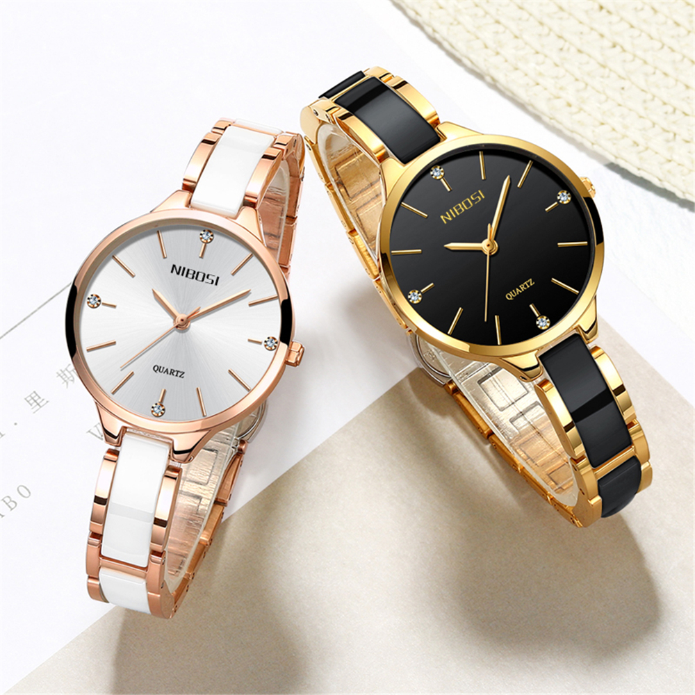 2020 NIBOSI Watch Luxury Women Watch Ladies Creative Women's Ceramic Bracelet Watches Female Clock Montre Femme Relogio Feminino 1