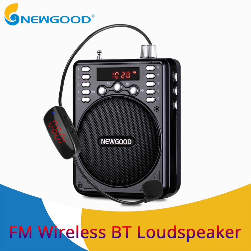 цена на Bluetooth Wireless Voice Amplifier Portable with FM Wireless Microphone Loud Speaker Megaphone Portable Speakers with USB TF