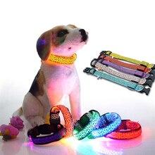 Nastavitelný leopardí psí obojek s LED osvětlením – velikost S-XL