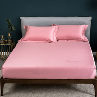 Solid Color Satin Craft Home Textile 60S Long Staple Cotton Sheets Mattress Cover Bed Sheet Fitted Sheet Bedspread Queen Size