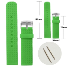 22mm Stylish Clover Green Color Silicone Jelly Rubber Las Men Watch Band Straps Wb1074z22jb China