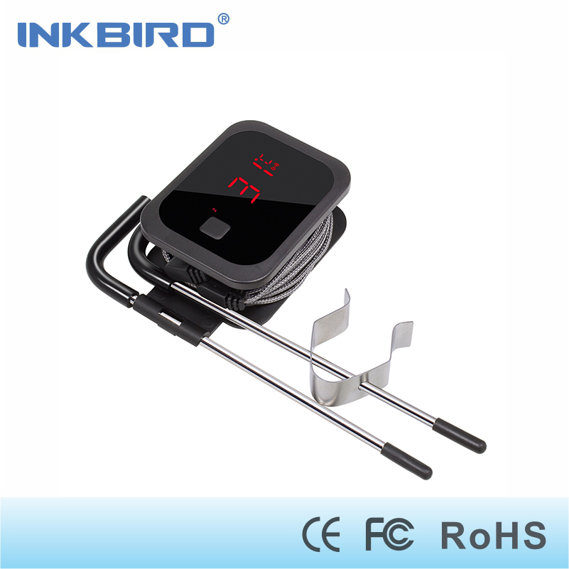 Inkbird Wireless Bluetooth thermometer IBT-2X cooking kitchen thermostat for oven meat and Grilling with Two stainless probe taylor precision 3504 meat dial thermometer