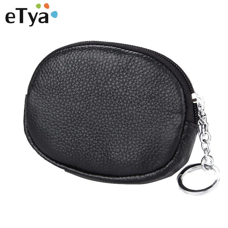 eTya Coin Purse women wallet Card Holder Zipper Key Ring women bag Pink Multifunction card package student girl purse money bags