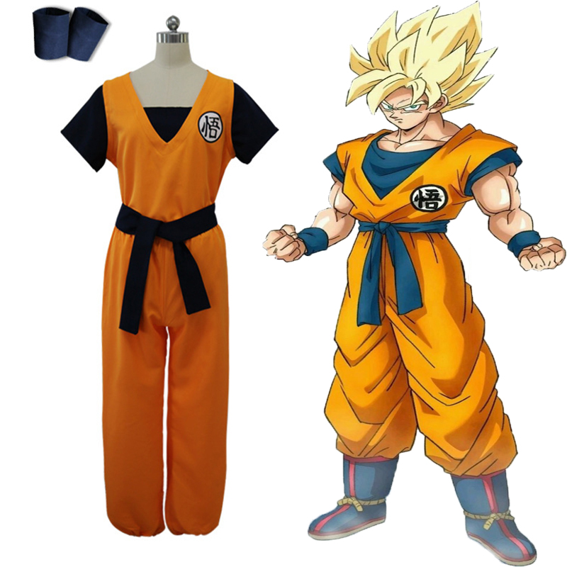 Anime Dragon Ball Z Cosplay Costumes Son Goku Cosplay Uniform Halloween Carnival Party Dragon Ball Super Kakarotto Costumes