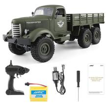 купить 1:16 6-Wheel-Drive Remote Control Military Truck 6WD Strong Power Off-road RC Car Transporter Army Lorry Model Vehicle Toys дешево