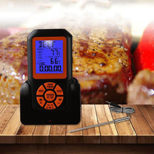 Wireless Waterproof Barbecue Thermometer Digital Cooking Meat Food Oven Barbecue Thermometer With Timer And Alarm Function цена