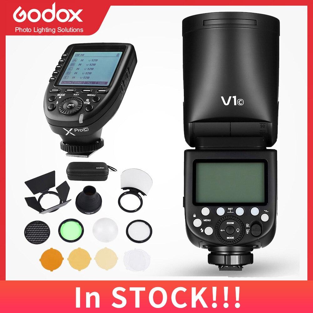 Вспышка Godox V1 V1S V1C V1N V1F V1O TTL 1/8000s HSS литиевая батарея Speedlite вспышка для Sony Canon Nikon Fuji Olympus