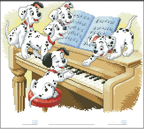 Embroidery Package Free Shipping Cross Stitch Kits Spotty Dog Piano Electronic Components & Supplies