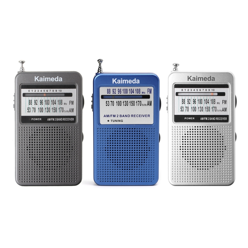 New Portable AM/FM 2 Band Digital Display Pocket Radio Receiver Supporting Stereo Mode
