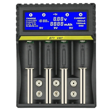 BTY V407 pil şarj cihazı Li ion ı ı ı ı ı ı ı ı ı ı ı ı ı ı ı ı ı ı ı ı fe Ni MH ni cd akıllı hızlı şarj cihazı 18650 26650 6F22 9V AA AAA 16340 14500 pil şarj
