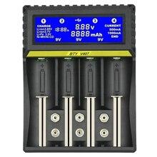 Cargador de batería BTY V407 Li ion li fe Ni MH ni cd cargador rápido inteligente para 18650 26650 6F22 9V AA AAA 16340 14500 carga de batería