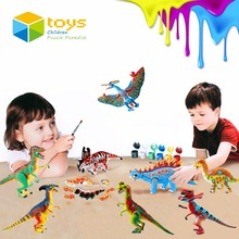 DIY Coloring Painting Animal Model Drawing Toys Graffiti Jurassic Dinosaur Creative Learning Educational Toys for Children Gifts