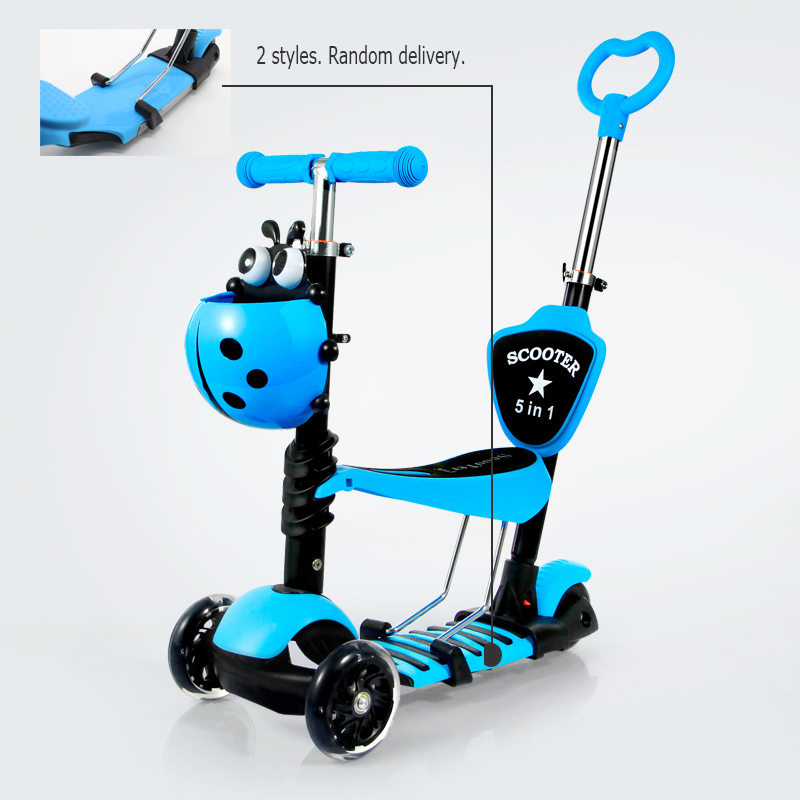 Children's scooter/3 to 6-year-old baby outdoor toys/Three in one / three wheel /Sliding pedal car/tb220801/05 three wheel with two seater twin dolls kang pedal three wheeled cart with awning four in one function