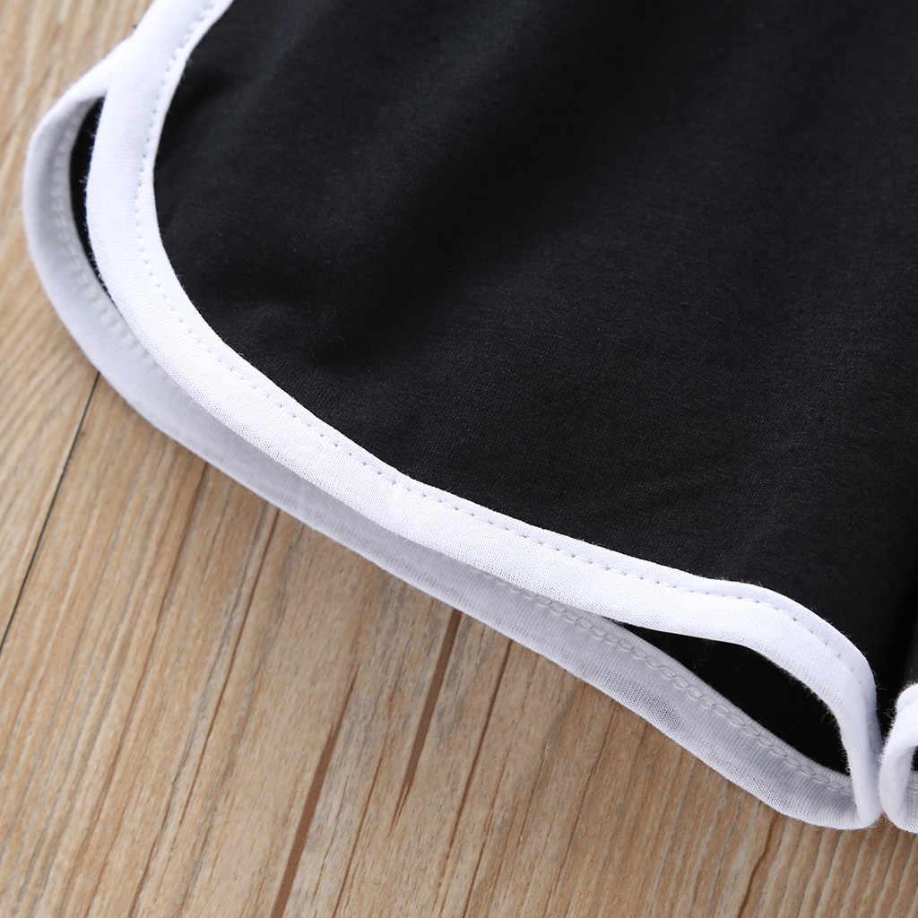 2 ชิ้นเด็กวัยหัดเดินเด็กทารกเด็กผู้หญิงชุดตัวอักษร T เสื้อกางเกงขาสั้นกางเกงทารกชุดเด็กทารกชุดเด็กเสื้อผ้า 1-5 ปีวันเกิด