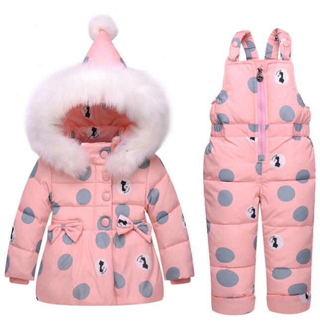 2018 Winter children clothing sets girls baby Warm parka down jacket for baby girl clothes children's coat snow wear kids suit pcora down jacket for girls winter female child outwear khaki warm girl clothing size 3t 14t 2017 pink parka coat for baby girls
