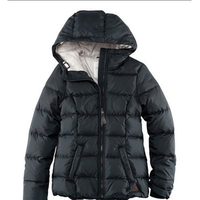 HDY Haoduoyi Solid Hooded Zipper Eiderdown Coat Down Jacket Winter Duck Down Jackets Women Slim Long Sleeve Parka Zipper Coats