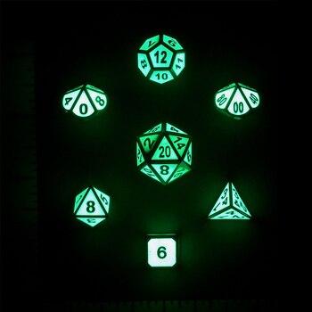 Build Your Own Dice Set - Metal Glow In The Dark Dice