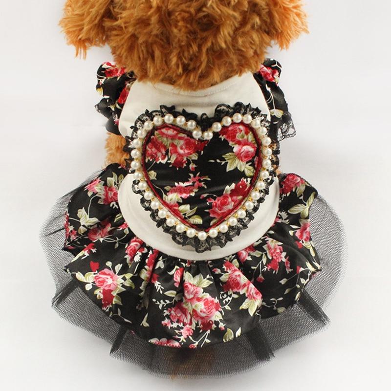 Armi store Summer Floral Pattern Dog Dresses Dogs Princess Dress 6071006 Pet Clothes Fashion Skirt XS, S, M, L