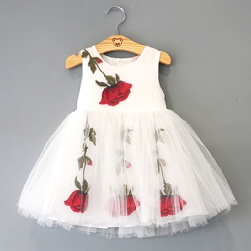 Подробнее о New Kids Girls White Lace Dress Infant Toddler Flower Children Wedding Party Dresses for Girl Princess Costume Summer Tutu Dress 2017 new princess party wear toddler girls dresses kids clothes elegant child flower girl lace ivory kids dress for weddings