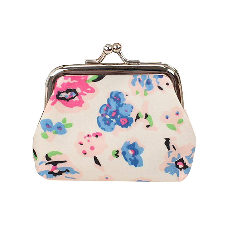 2017 New fresh garden small floral printing coin purse Candy colors bags mini women wallet Fashion Hasp Coin purses hot small fresh forest female wind pastoral floral mini small school bag cute school bags coin purse student coin purse