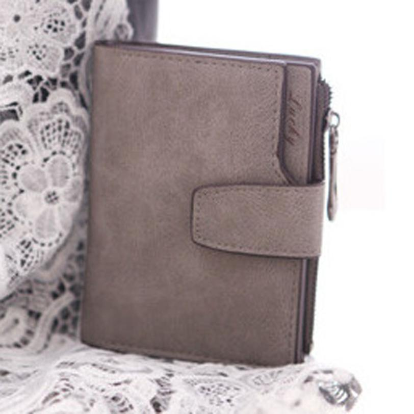 2016 Busienss Women Mini Grind Magic Bifold Leather Wallet Card Holder Women Wallet Purse Coin Purse Handbag carteras mujer Hot
