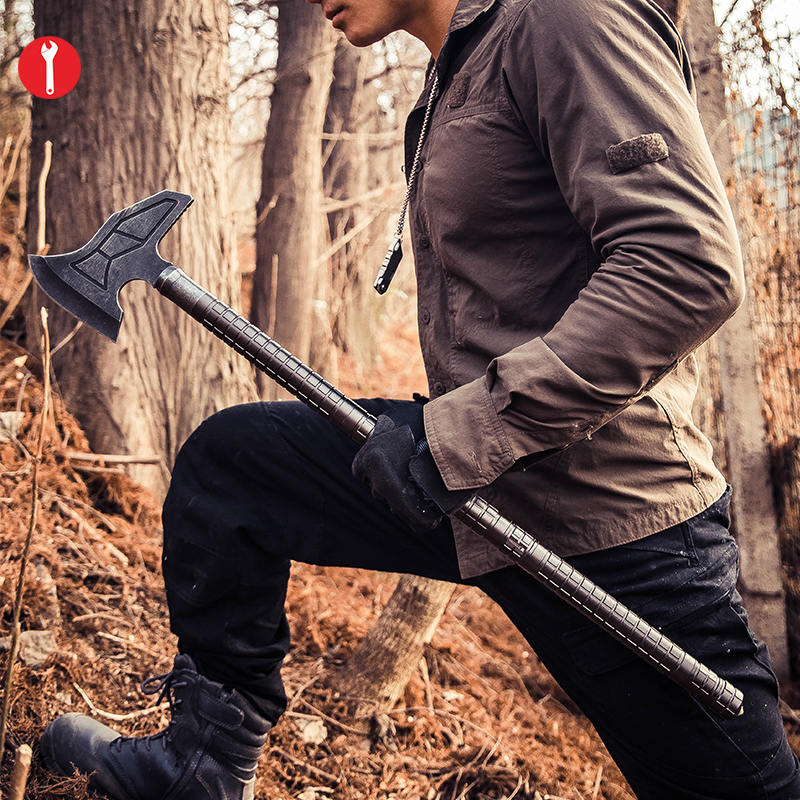 Tactical Axe Tomahawk Army Outdoor Hunting Camping Survival Axe Long Hand Tools Fire Axe Ice hot sale tactical axe tomahawk multi army outdoor hunting camping survival machete axes hand outdoor tools hatchet fire axe q06