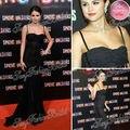 2013 Selena Gomez Red Carpet Dress Sexy Spaghetti correa piso de la envoltura del cordón de la celebridad vestidos