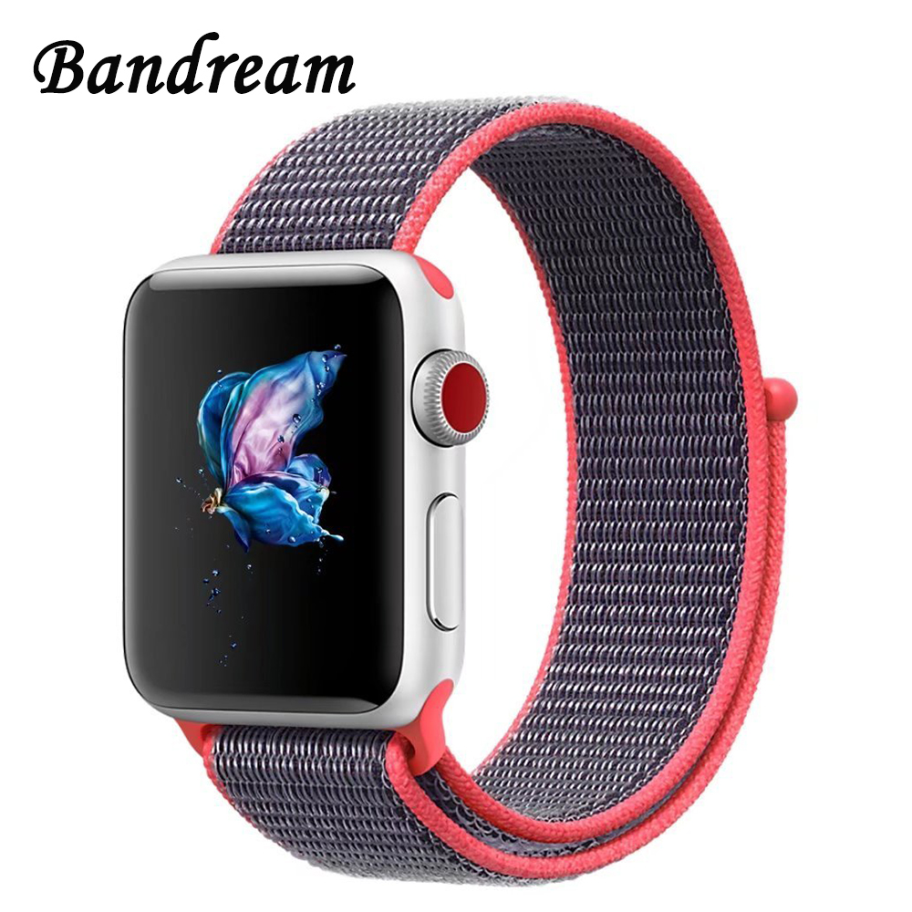 Milanese Nylon Watchband for iWatch Apple Watch 38mm 42mm Series 1 2 3 Hook & Loop Fastener Band Sport Strap Wrist Belt Bracelet