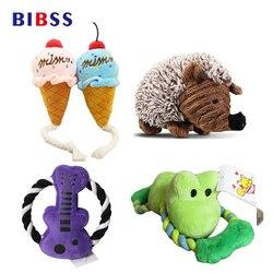 Brinquedo do cão squeak som brinquedo de pelúcia mastigar brinquedo para gatos bolas brinquedos interativos suprimentos para animais de estimação dropshipping