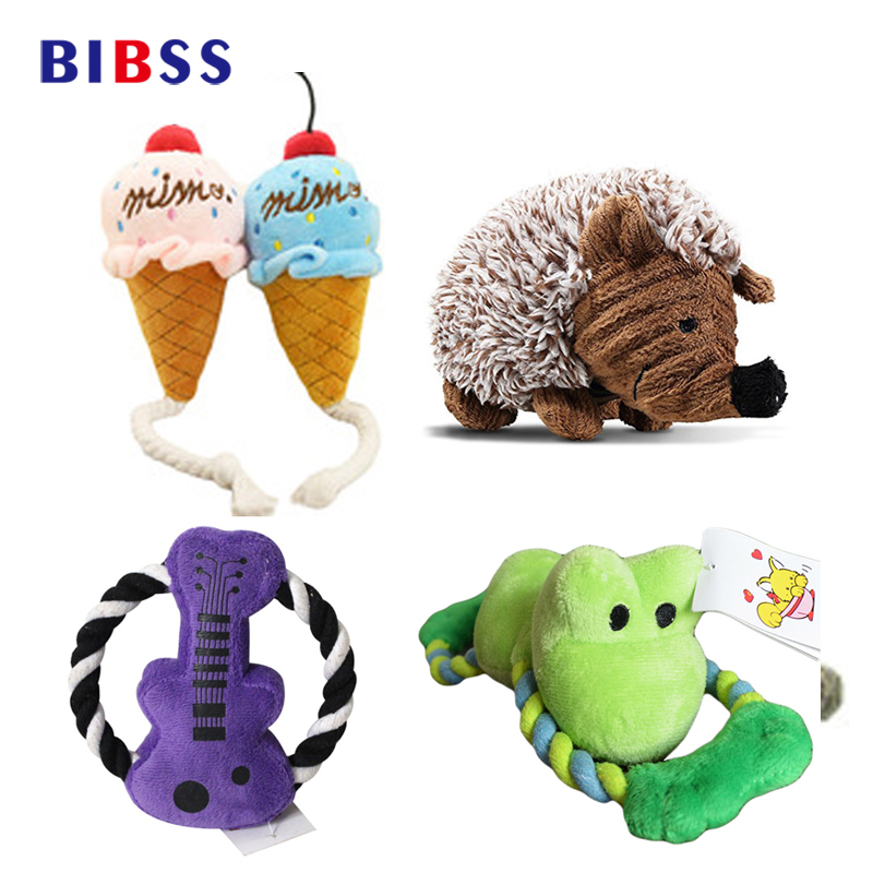 Dog Toy Squeak Sound Toy Plush Chew Toy For Cats Balls Interactive Toys Pet Supplies  Dropshipping