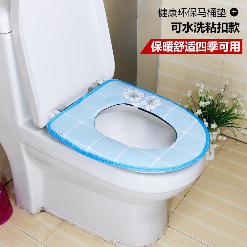 Soft Toilet Cover Seat Lid Pad Bathroom Closestool Protector bathroom accessories set toilet seat cover mat