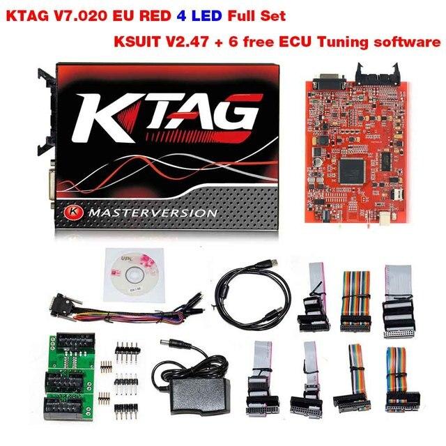 2018 Kess V2 V5 017 OBD2 Manager Tuning Kit KTAG V7 020 4 LED Kess