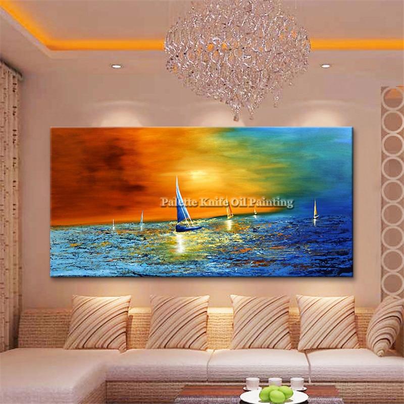 Canvas yağlı boya kaudros dekorasiyası Yaşayış otağı kvadrosu - Ev dekoru - Fotoqrafiya 2
