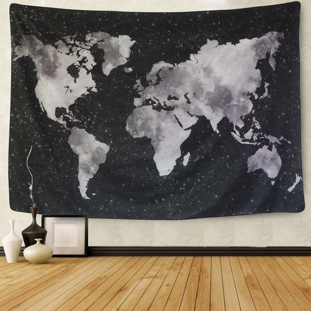Enipate new watercolor world map tapestry black white abstract enipate new watercolor world map tapestry black white abstract painting wall hanging home decor yoga gumiabroncs Images
