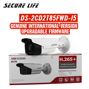 Image 1 - Free shipping English version DS 2CD2T85FWD I5 8MP Network Bullet IP security Camera POE SD card 50m IR H.265+