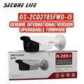 Frete grátis versão em inglês DS-2CD2T85FWD-I5 8mp rede bala ip câmera de segurança poe cartão sd 50m ir h.265 +
