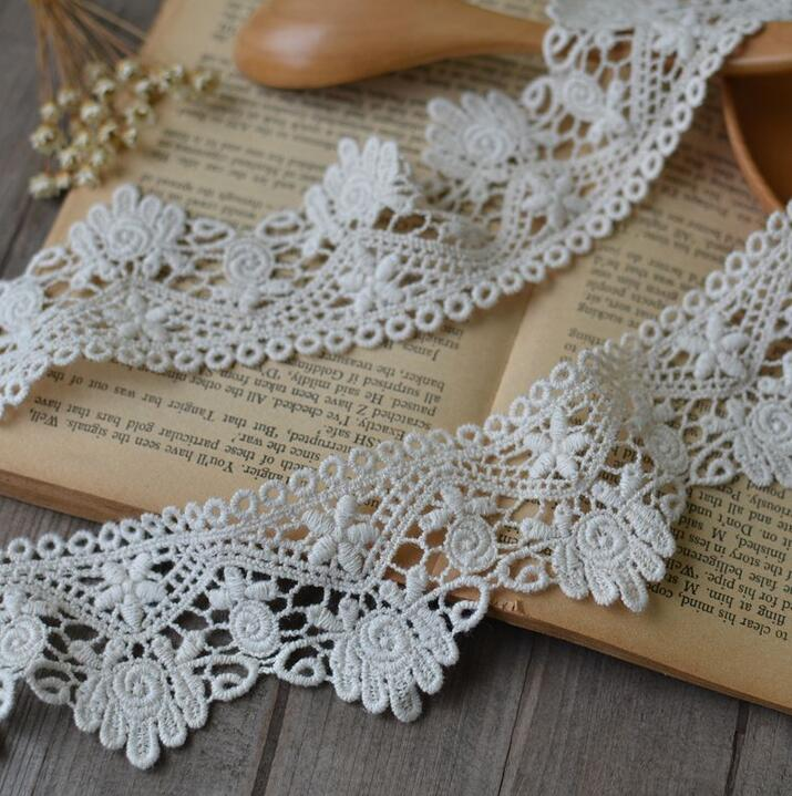 Crochet Lace Wedding Garter Pattern: 2 Meters/lot 5.5cm Width 100% Cotton Crocheted Lace Trim