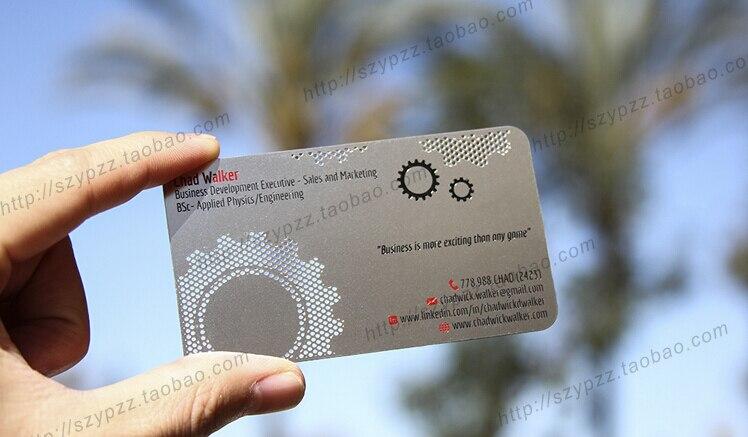 Couleur Mtallique Mtal Cartes De Visite Impression Luxe En Carte Double