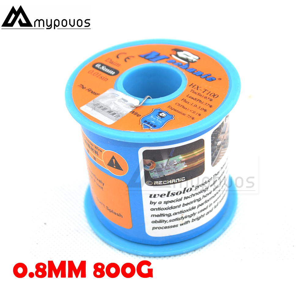 MECHANIC 0.6/0.8/1.0/1.2mm mm 63/37 Tin Rosin Core Tin/Lead Rosin Roll Flux Solder Wire Reel Low Melting Point welding 500G-800G 500g roll 0 6mm 500g 60 40 flux 2 0