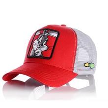 Новая модная бейсбольная кепка для женщин и мужчин, дышащие бейсболки с сетчатыми вставками, унисекс, бейсболка с вышивкой животных, хип-хоп кепка
