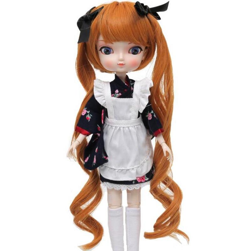 BBGirl BJD Doll Brown Hair For DIY 30cm 35cm Doll Accessories Toy