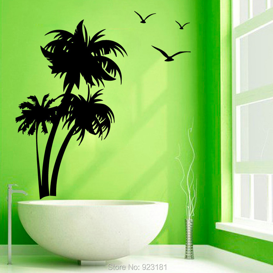 Online Buy Wholesale Palm Stickers From China Palm Stickers . Palm Tree  Bedroom Decor ...