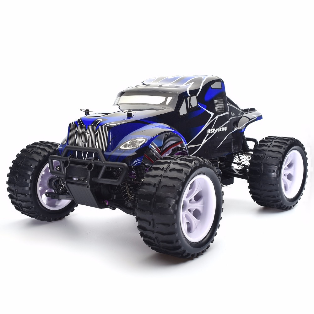 HSP Rc Car 1/10 Scale Model Electric Car 4wd Off Road Monster Truck 94111 High Speed Hobby Remote Control Car Kid Toys 02023 clutch bell double gears 19t 24t for rc hsp 1 10th 4wd on road off road car truck silver