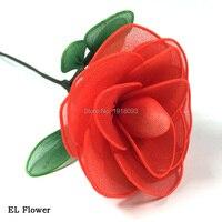 Dc-5v USB constante en el inversor Alambres brillante flor Rosa boda favores y Gifs Iluminación para fiestas Decoración