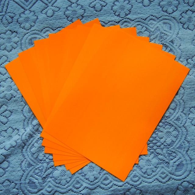 A48pcs Neon Orange Color Only Pu Vinyl Heat Transfer Vinyl Paper