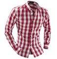 Free Shipping 2017 New Spring Autumn Mens Plaid Shirts Casual Slim Fit Vintage Men Shirt Social Camisa Masculina 13M0326