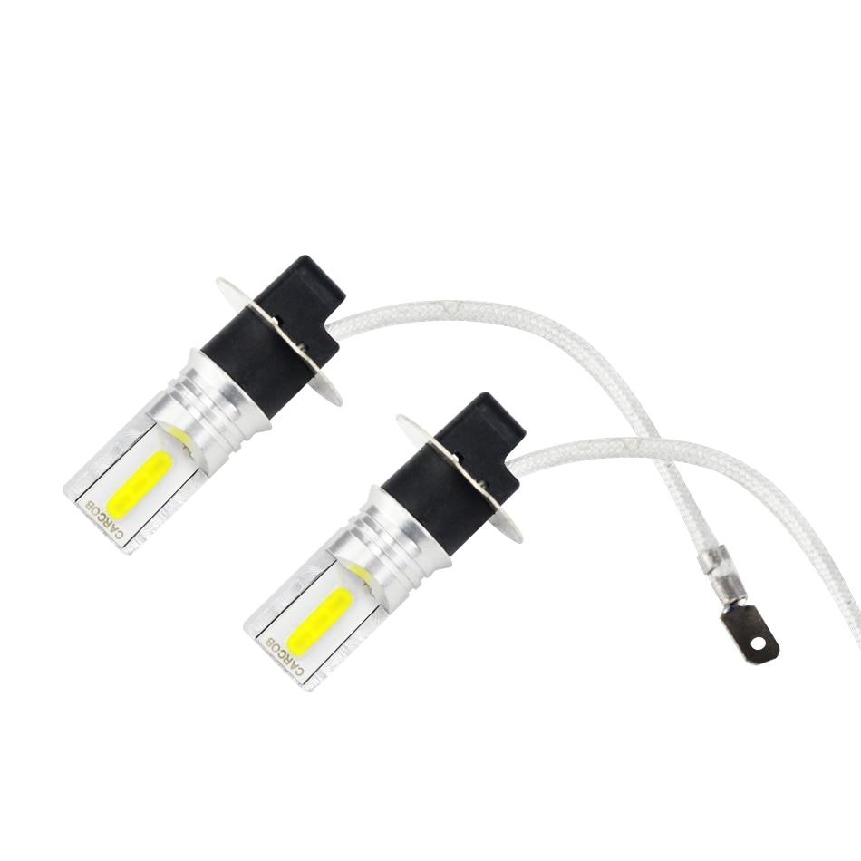 2PCS High Power Waterproof IP65 12v Brightness H3 Led Fog Light Bulb  For Cars